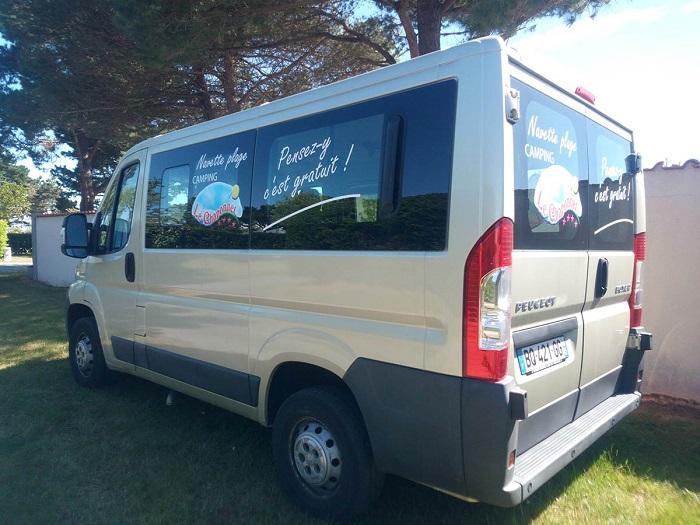 navette accès plage au top camping en Vendée