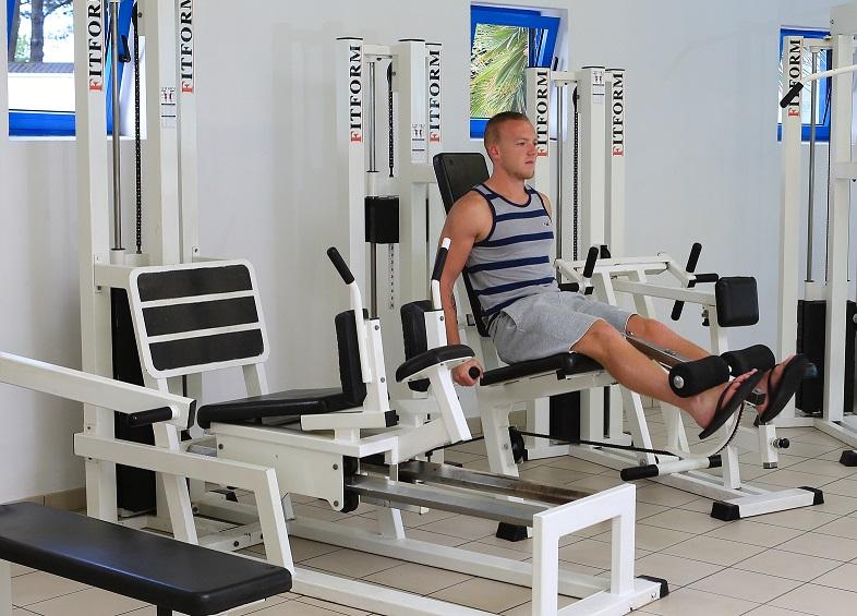 Salle de fitness au camping club en Vendée