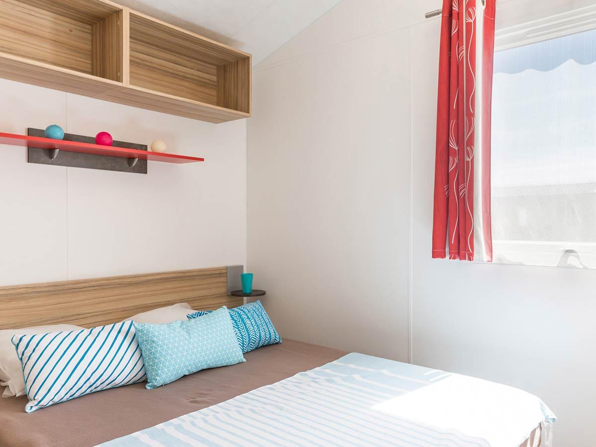 chambre 1 location mobilhome vendée Alizé 6 personnes