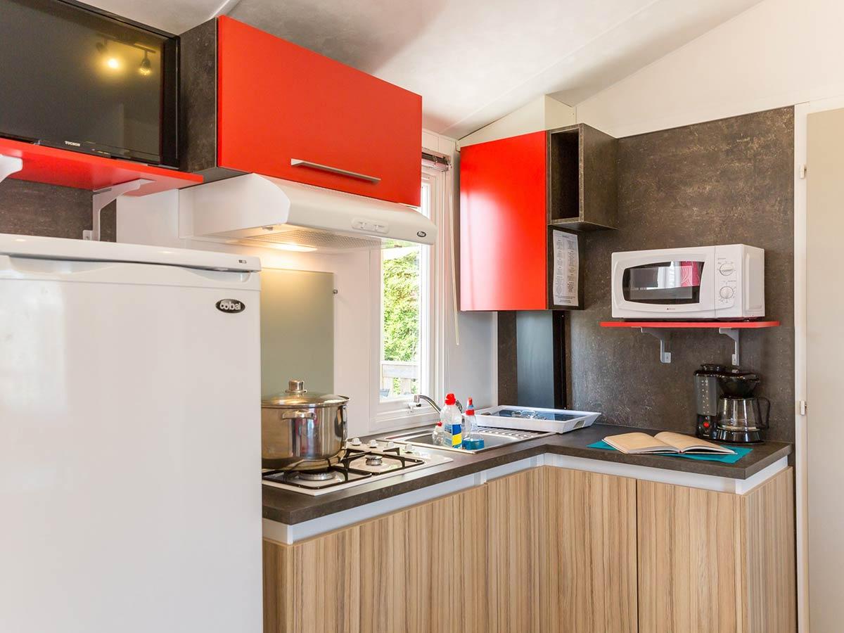 cuisine location mobilhome vendée Alizé 6 personnes