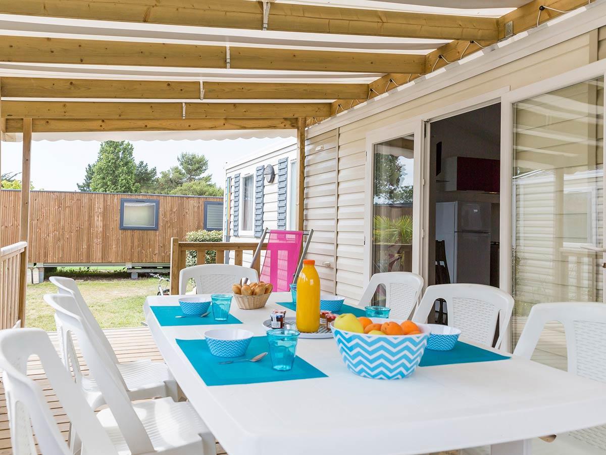 terrasse location mobilhome 8 personnes vendée Florida