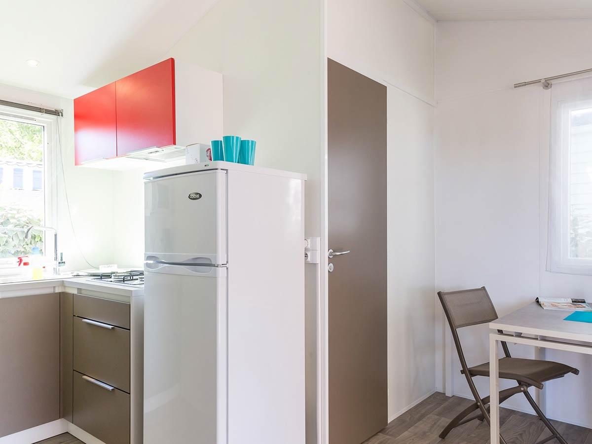 coin cuisine location mobilhome 1 chambre ibiza vendée
