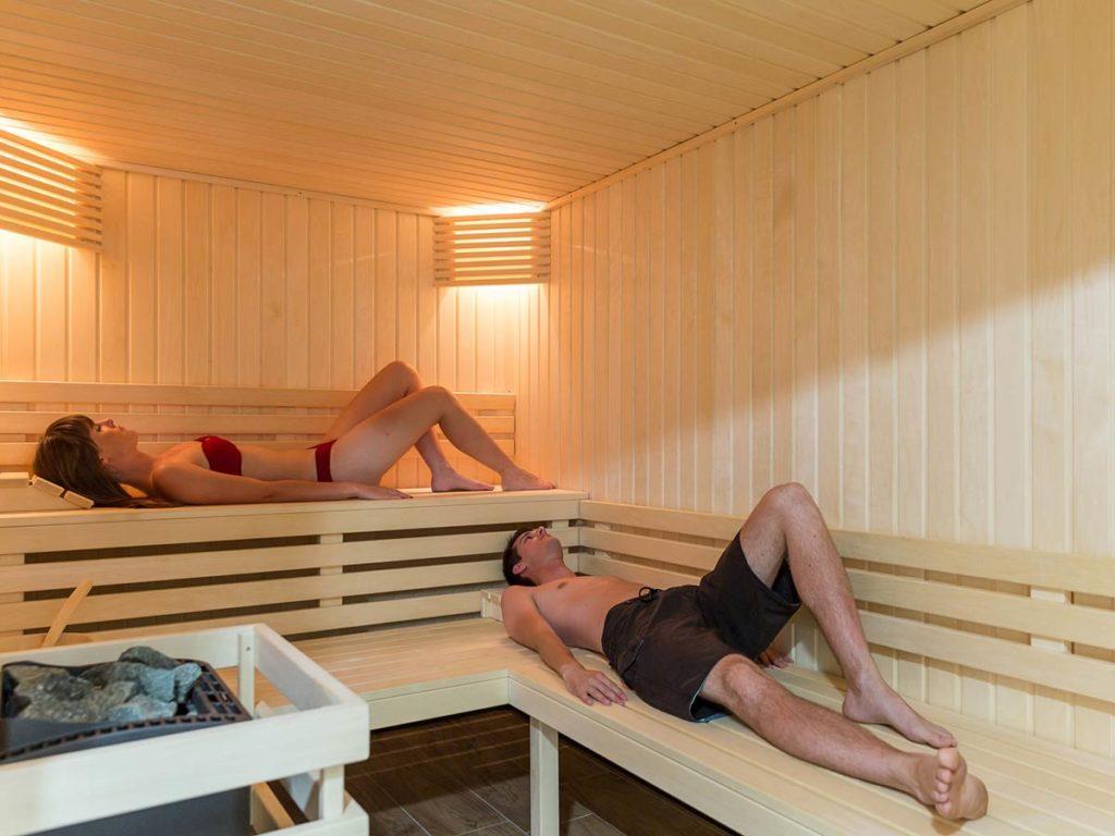 espace bien-être avec sauna