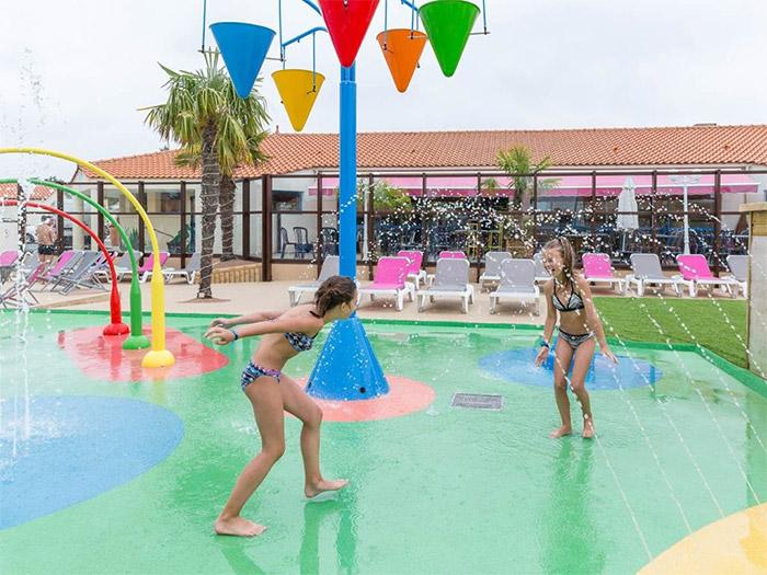 la pataugeoire du parc aquatique en Vendée