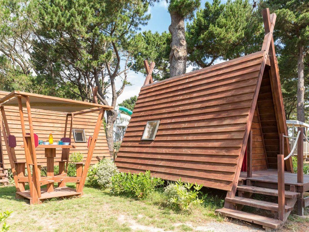 location cabadienne au camping en Vendée