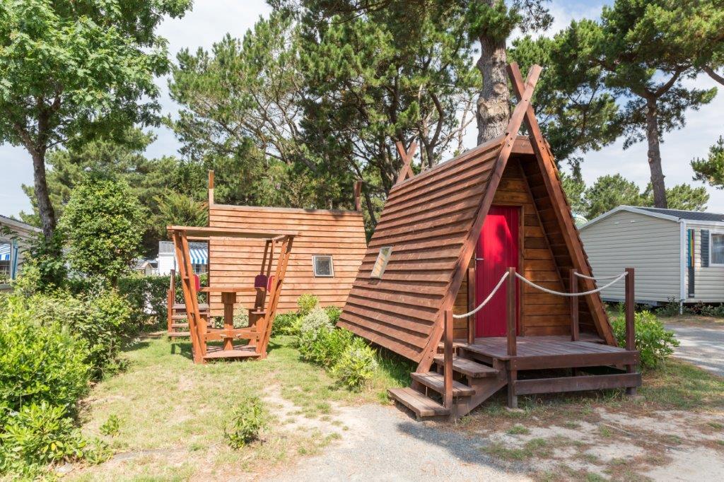 location hébergements insolite au camping en Vendée